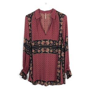 Free People Changing Times Floral Print Tunic XS